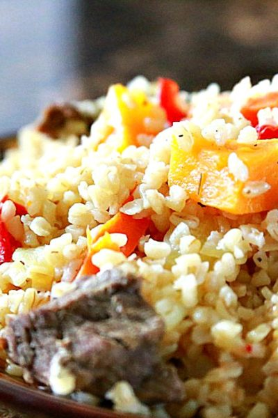Bulgur Pilaf with Butternut Squash