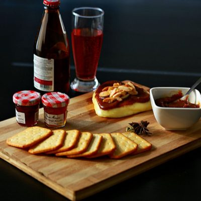 Baked Brie with Chai Date Spread
