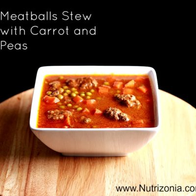 Meatballs Stew with Carrot and Peas