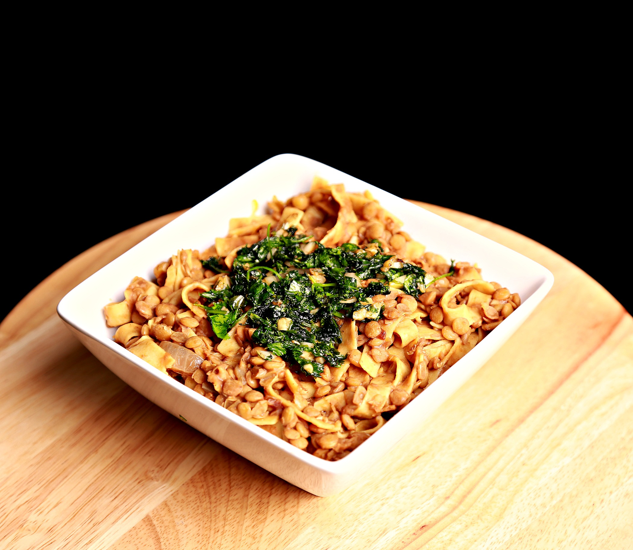 lentils with pasta