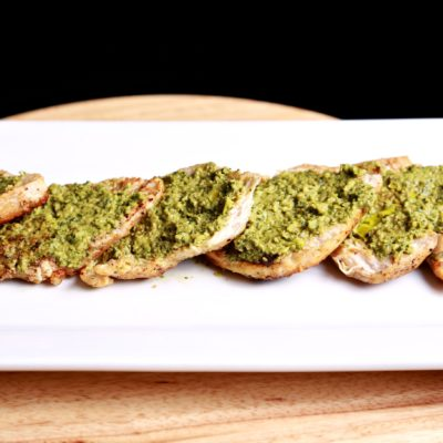 Spinach Olives Tapenade Over Seared Chicken