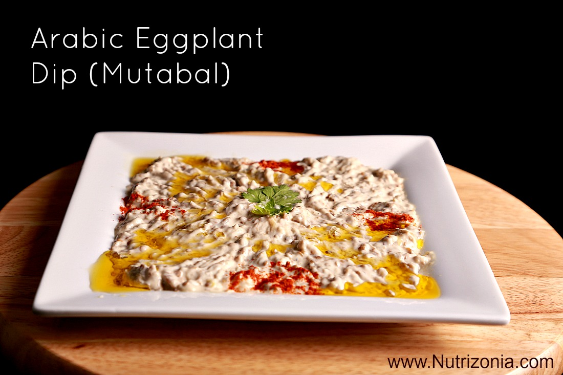 Arabic eggplant dip mutabal nutrizonia for Arabic cuisine names