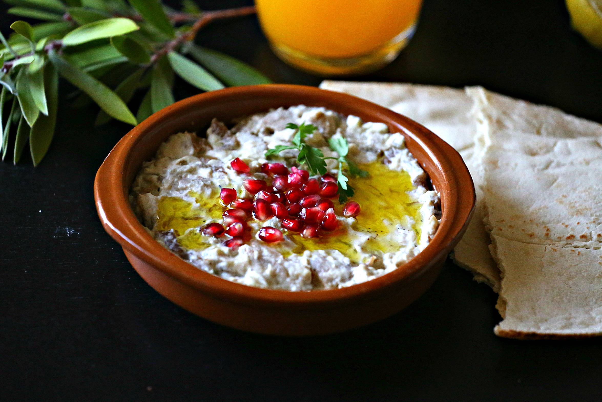 Arabic eggplant dip mutabal nutrizonia for Arabic cuisine food