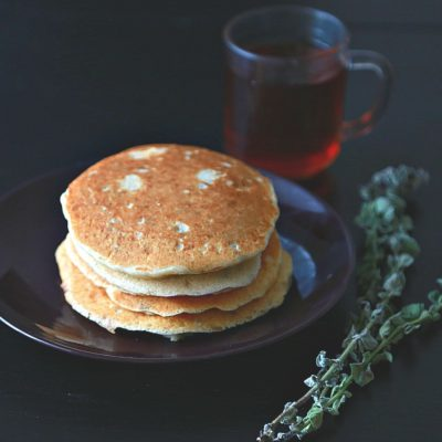 Thyme Pancakes Stuffed with White Cheese