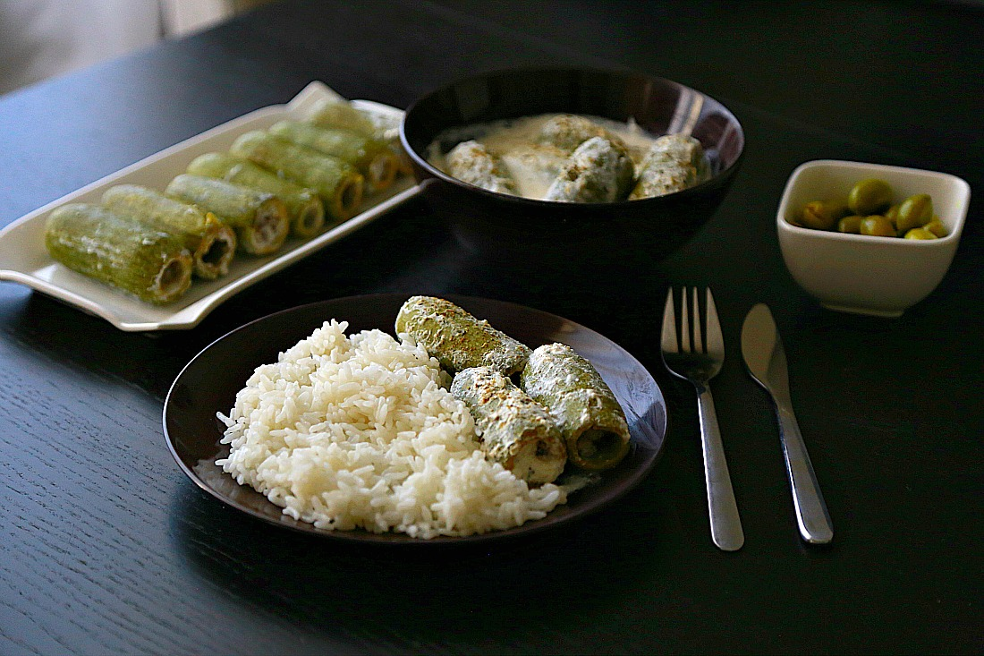 White zucchini with rice 4