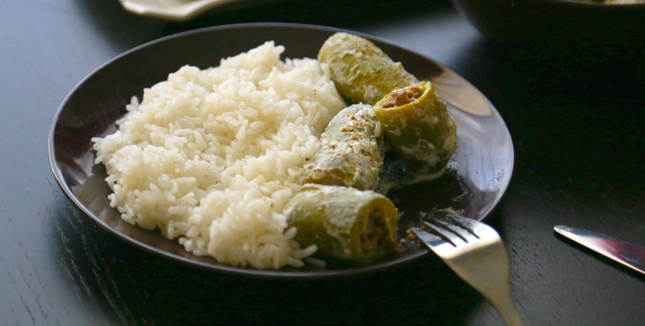 White zucchini with rice 5