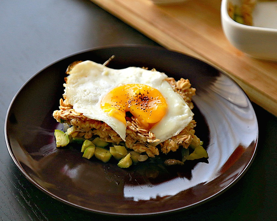 oatmeal with fried egg