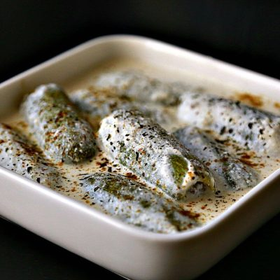 Arabic Stuffed White Zucchini in Yogurt Sauce (Kousa bel laban)