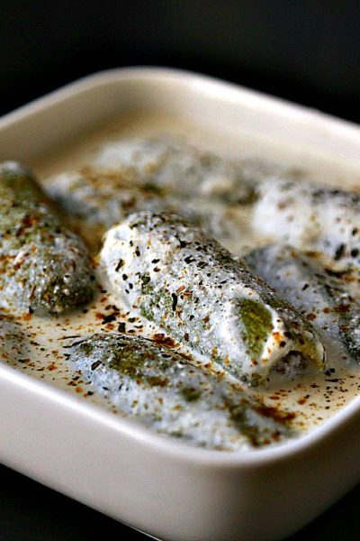 Stuffed White Zucchini in Yogurt Sauce (Kousa bel laban)