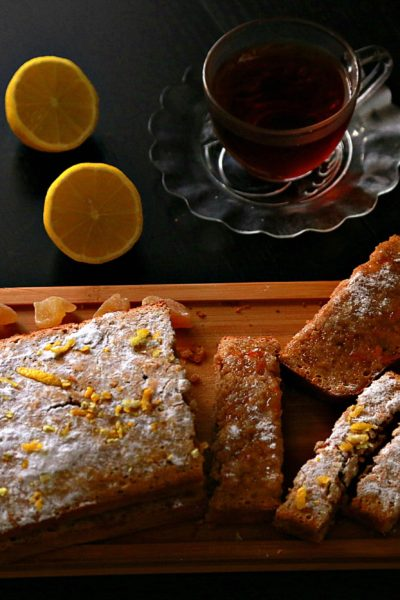 Candied Ginger & Lemon Early Grey Tea Cake