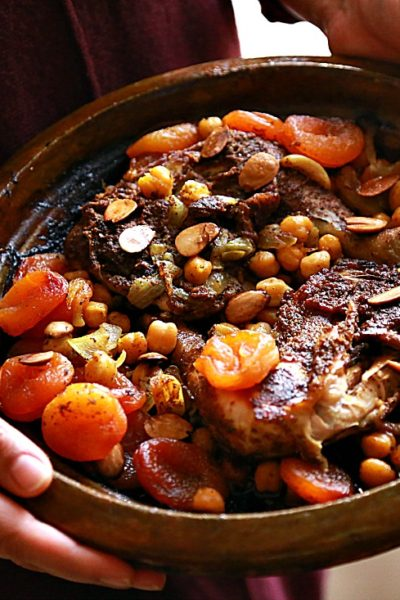 Chicken and Dried Apricots Moroccan Tajine