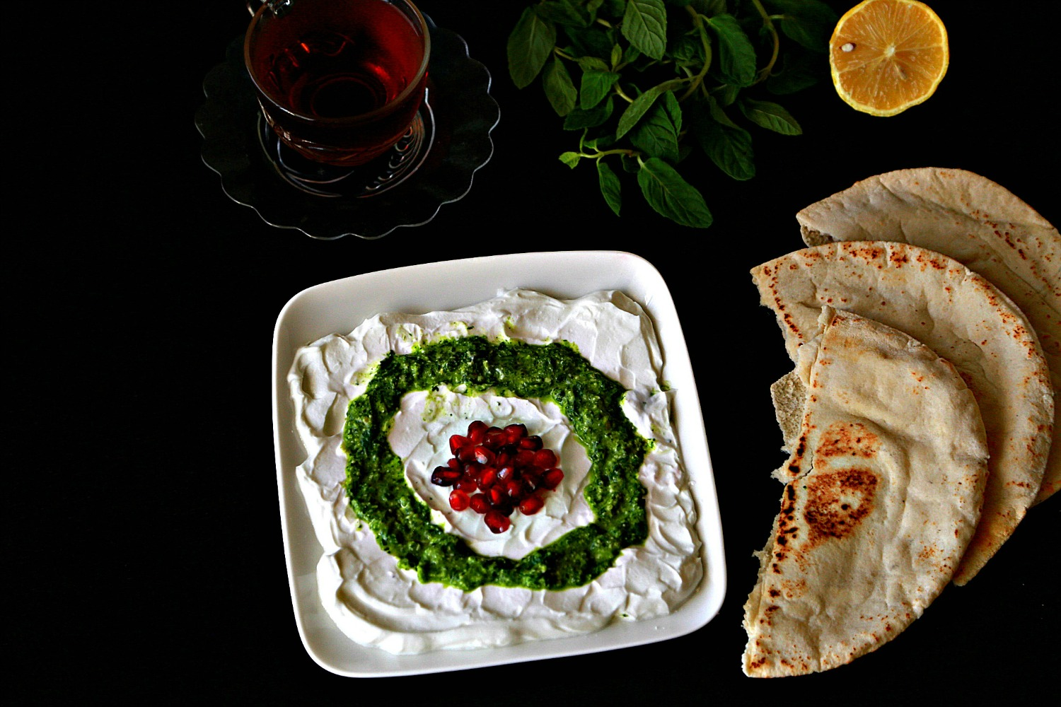 labneh with mint pesto