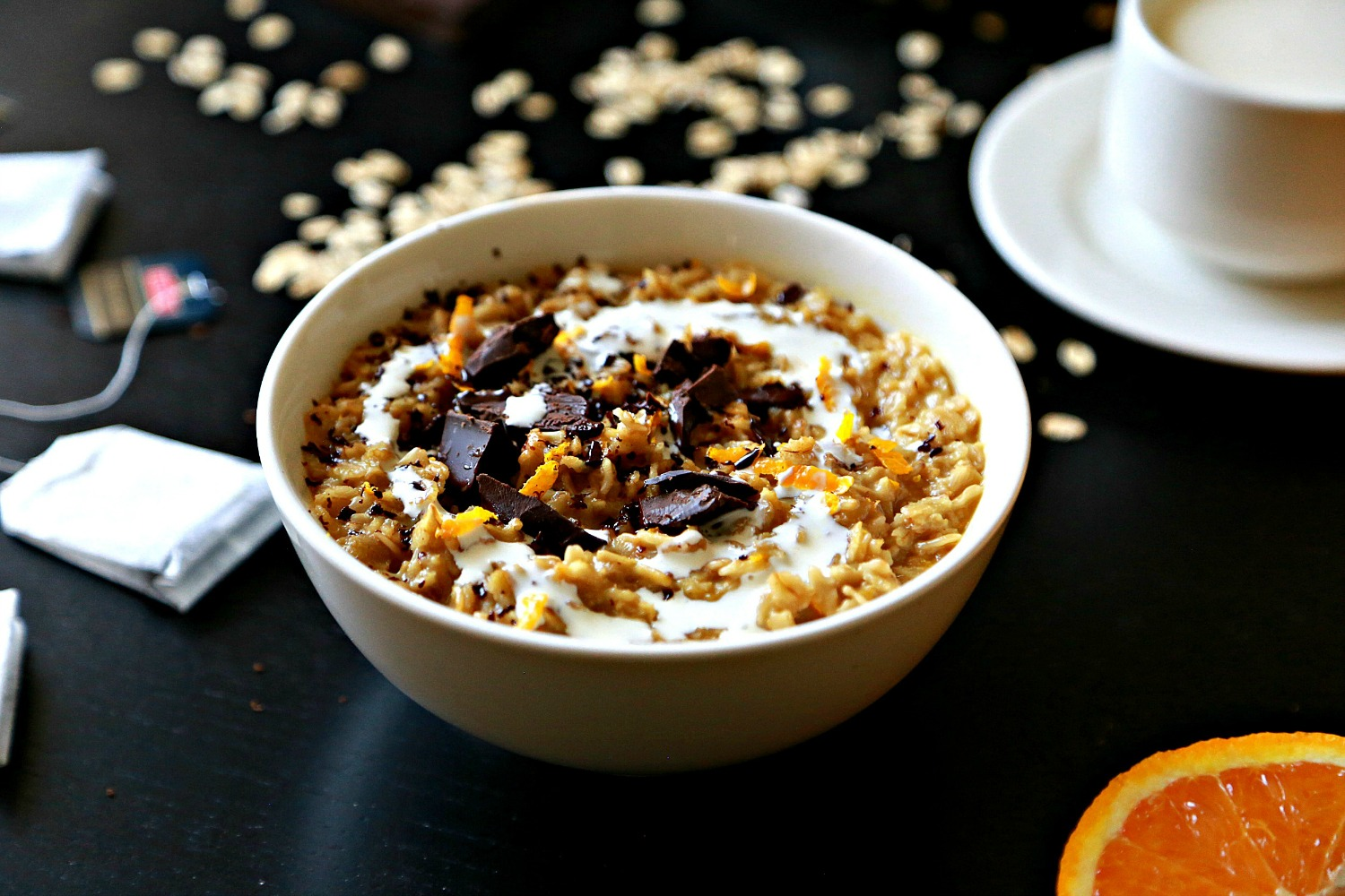 Earl grey orange oatmeal