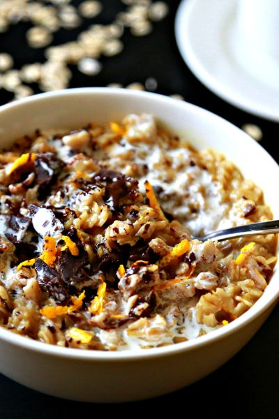 "Quick ""Earl Grey Tea"" Orange Oatmeal"