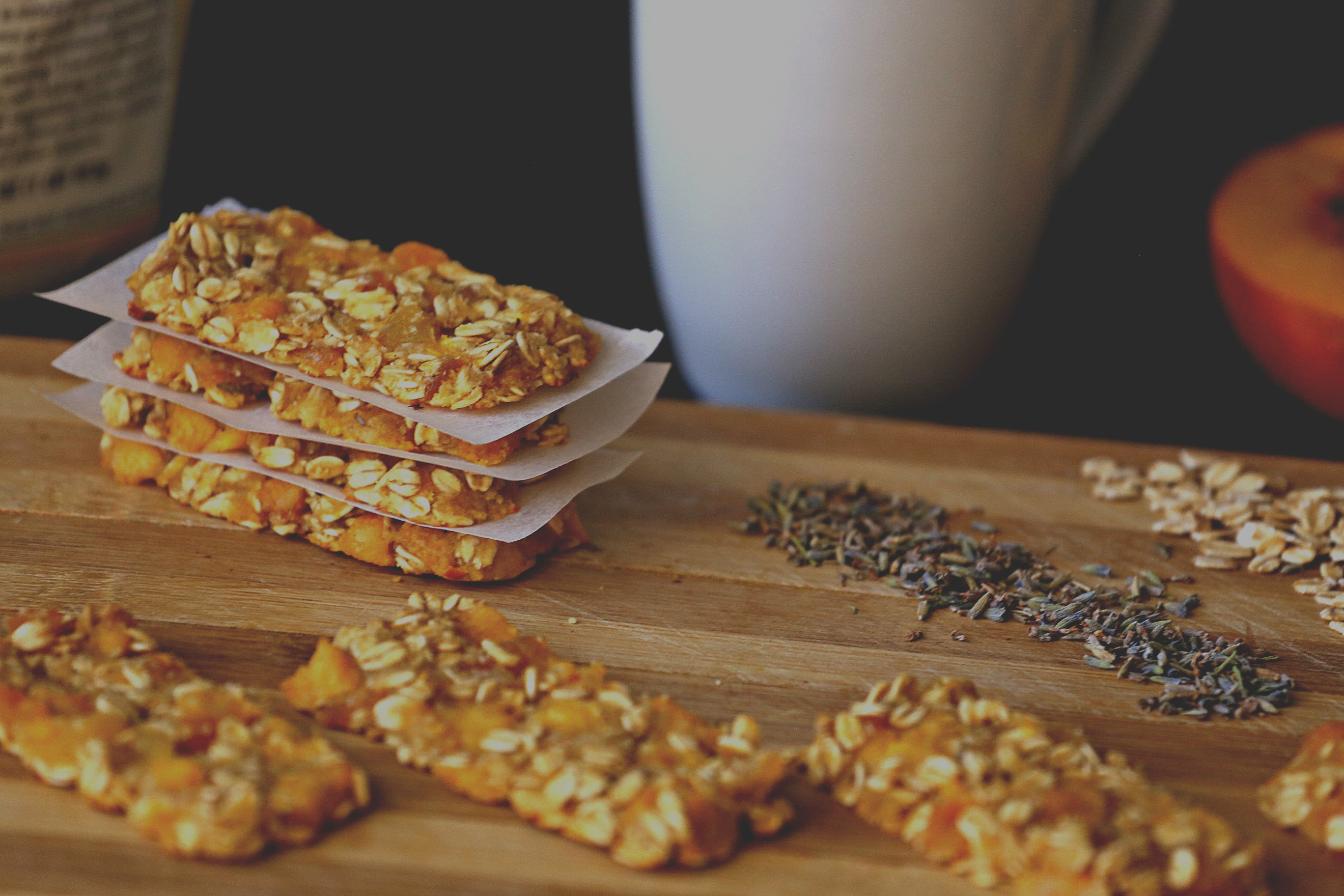 Peach Oatmeal Bars with Lavender - :: Nutrizonia