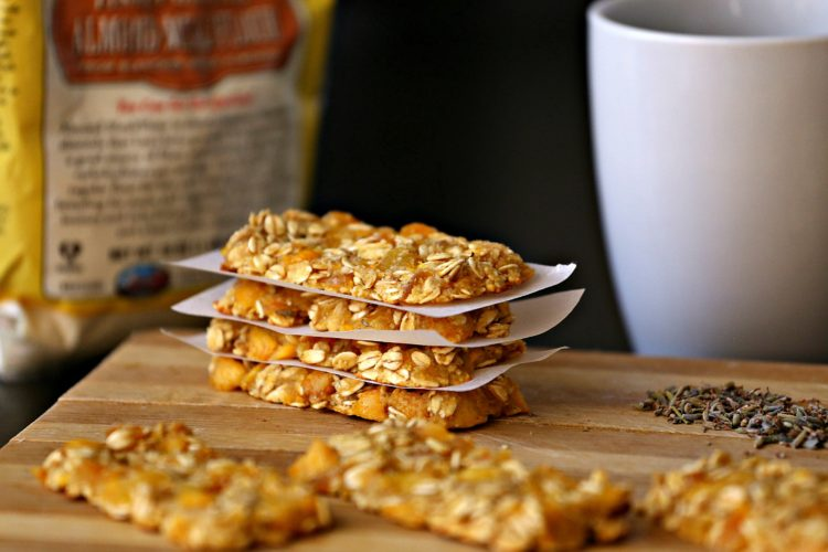 Peach Oatmeal Bars with Lavender