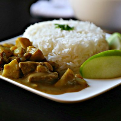 Asian Beef Curry Stew with Apples