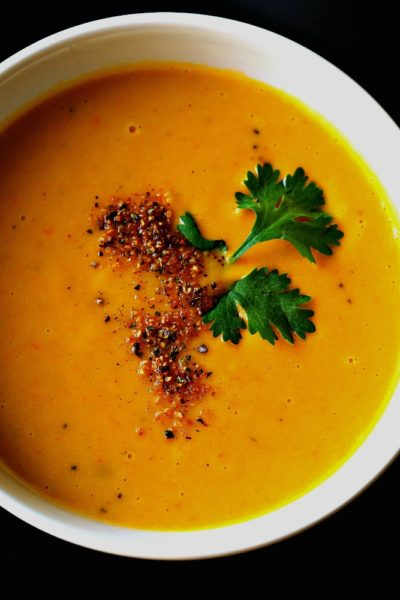 Vegan Sweet Potato & Carrot Soup