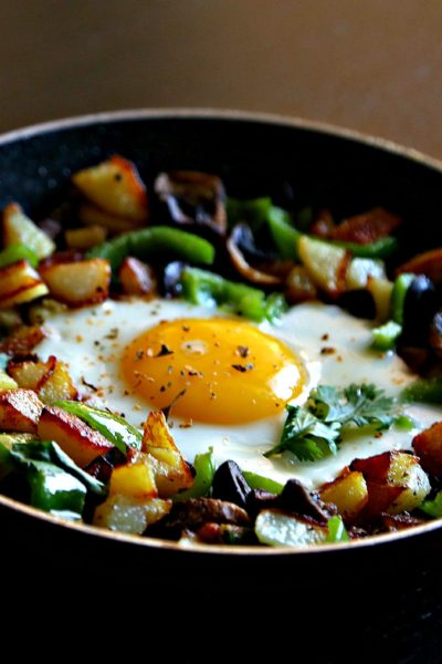 Healthy Potato Hash with Fried Egg