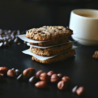 Hazelnut Chewy Chocolate Oatmeal Bars