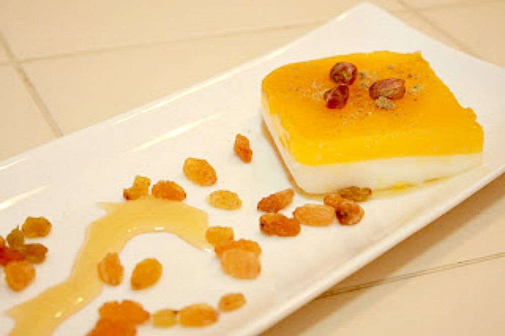milk and orange pudding (old photo)
