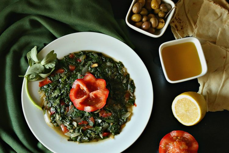 Easy Cooked Watercress with Tomato
