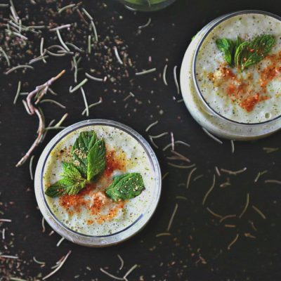 Cucumber Pear Gazpacho {Cold Soup}