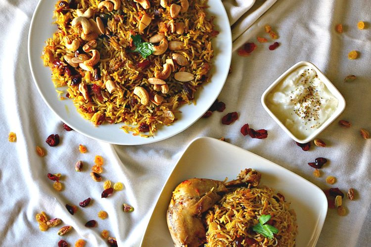 Saffron Rice Pilaf with Chicken