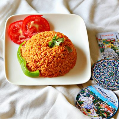 Turkish Bulgur with Tomato Pilaf