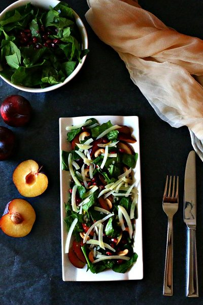 Pomegranate & Quinoa Spinach Salad