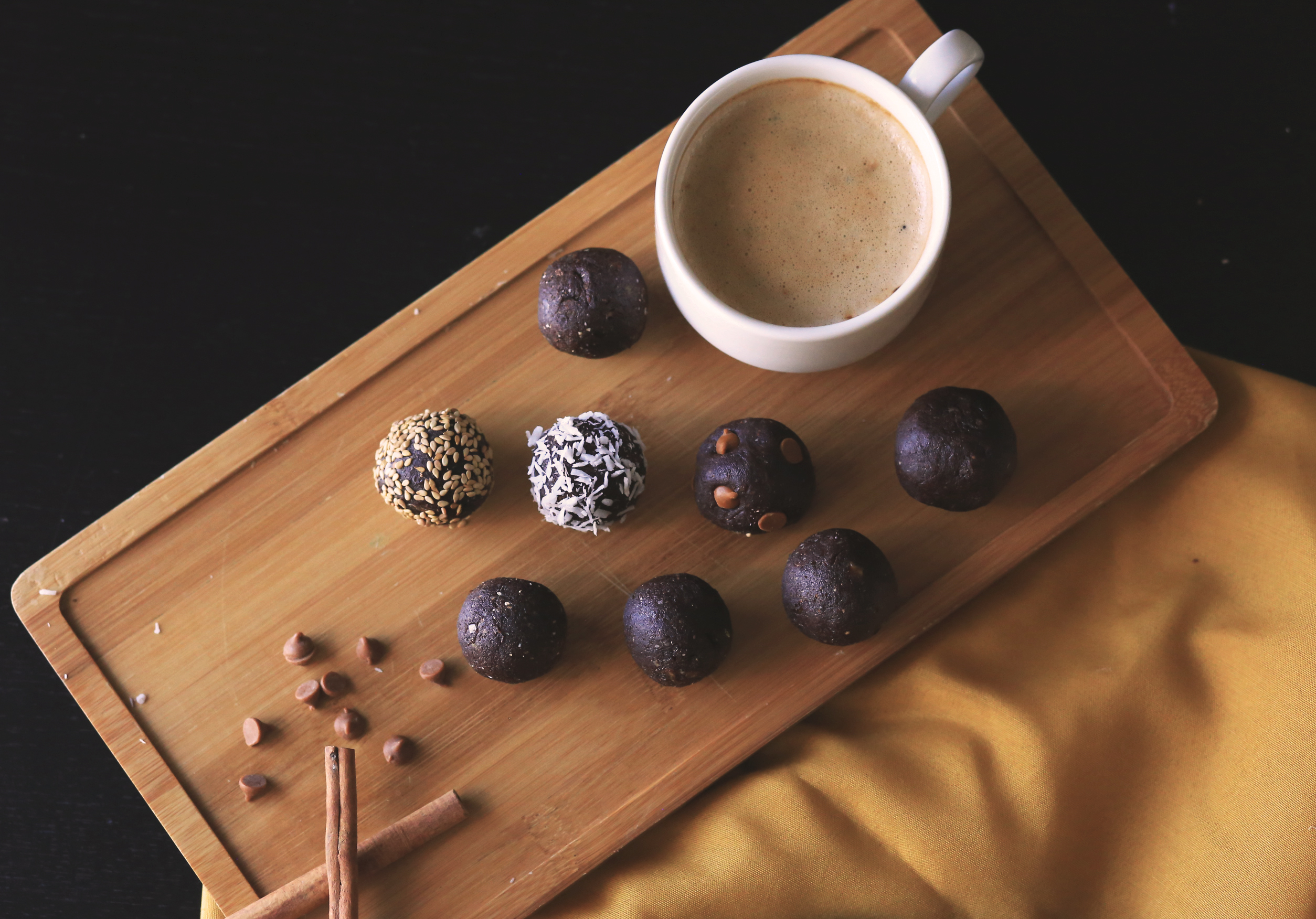 chocolate energy date balls