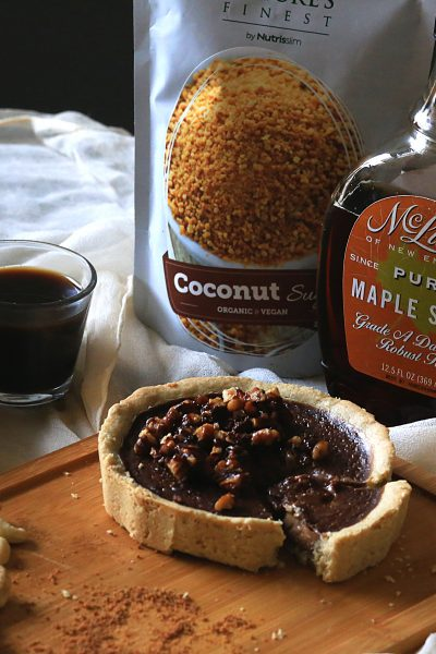 Carob Cashew Pie with Toasted Pecan