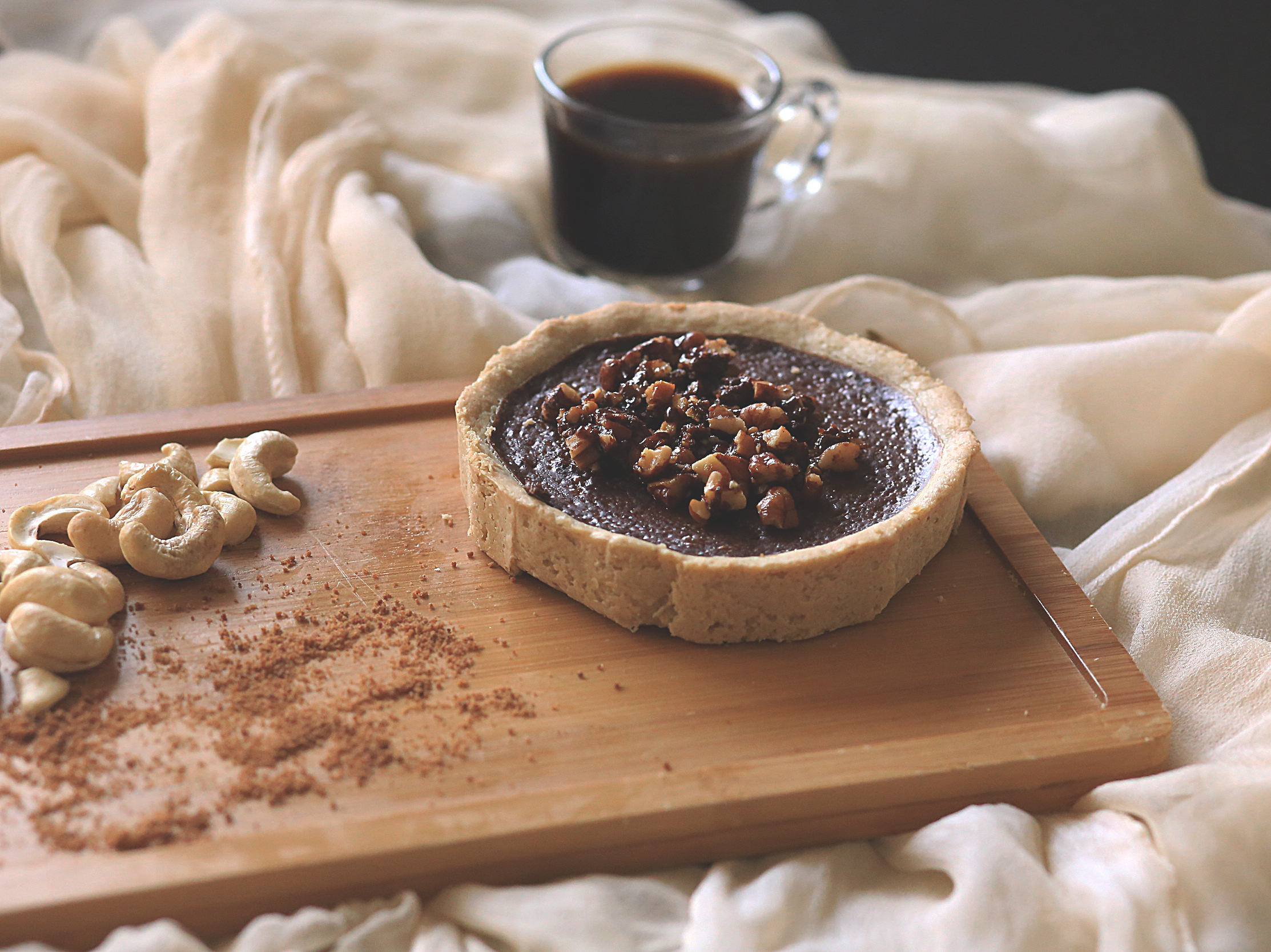 Carob cashew pie with toasted pecan this cashew pie recipe is inspired by two of my favorite food bloggers first is kevin if you follow my blog you must know him forumfinder Images