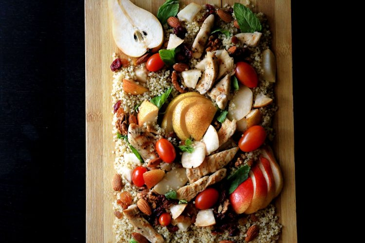 Easy Quinoa Salad with Pears and Cashew Cream Dressing